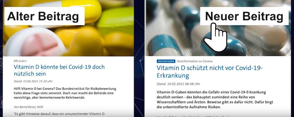 Vitamin D bei Covid-19 nützlich