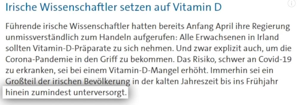 Vitamin D bei Covid-19 doch nützlich