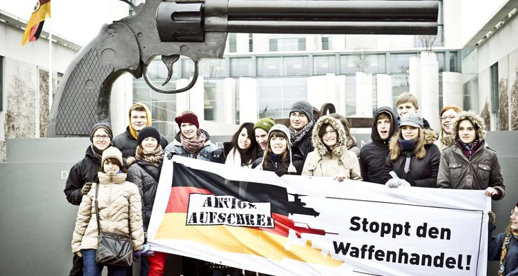 Stoppt die Rüstungsexporte. Foto: Dominik Thomas Butzmann