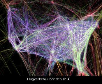 Chemtrails: Flugverkehr ueber den USA