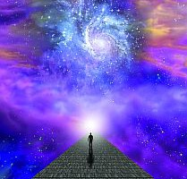 Man on path to the heavens