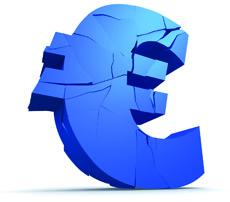 zerbrochenes euro zeichen