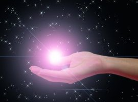 An illustration of a hand holding a star