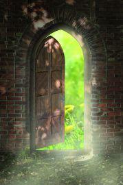 Door to new world. The door to paradise.