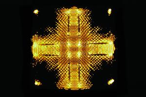 Wasser Klang Bild Kreuz